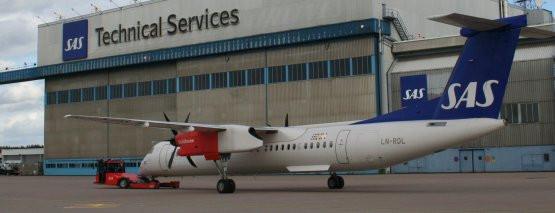 Samoloty Dash 8 należące do linii SAS spędzą najbliższe dni w punktach serwisowych, pod czujnym okiem inżynierów i mechaników.