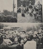 """Zdjęcia z obchodów Nocy Świętojańskiej w 1934 r. Zdjęcia opublikowane w gazecie """"Danziger Neuste Nachrichten""""."""