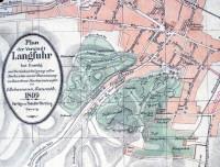Plan parku w Jaśkowej Dolinie z 1899 r.