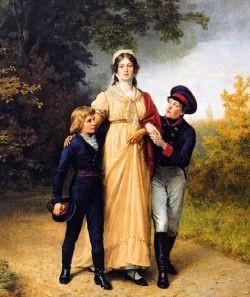 Królowa Luiza z synami – późniejszymi Fryderykiem Wilhelmem IV i Wilhelmem I.