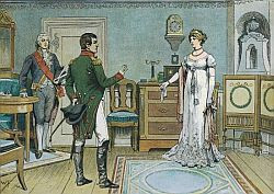 Ciężkim przeżyciem dla Luizy było spotkanie w Tylży z Napoleonem, którego, wzorem wielu przedstawicieli starych europejskich rodów, uważała za amoralnego potwora.