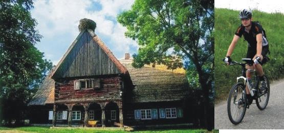 Odbijamy nieco ze szlaku by zobaczyć piekną drewnianą chatę w Chrystkowie