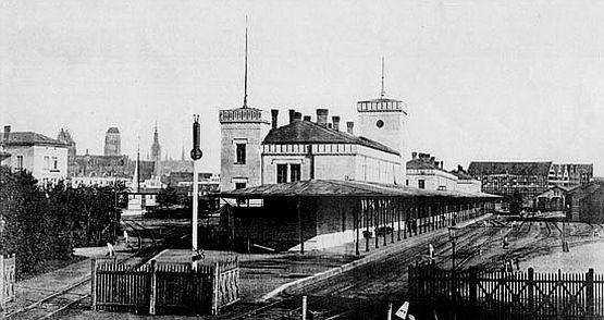 """Tak wyglądał dawny dworzec """"Brama Nizinna"""" przed 1945 r."""