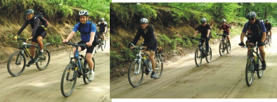 Ruszamy szlakiem rowerowym z Otomina w kierunku Przywidza.