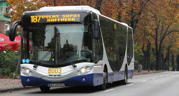 Linię obsługuje firma Warbus, która do obsługi tej trasy wykorzystuje autobusy City Smile marki AMZ.