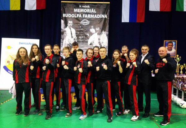Ekipa Klubu Sportowego Gokken podczas słowackiego Memoriału Rudolfa Farmadina.