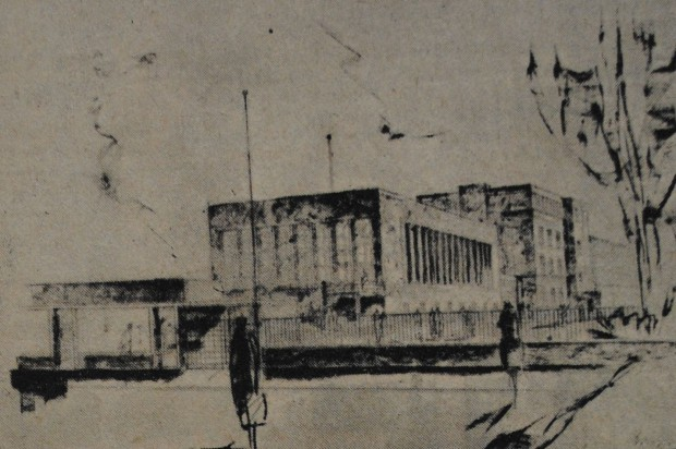 """Projekt basenu przy ul. Wałowej (""""Danziger Neueste Nachrichten"""", 18-19 IV 1931)"""