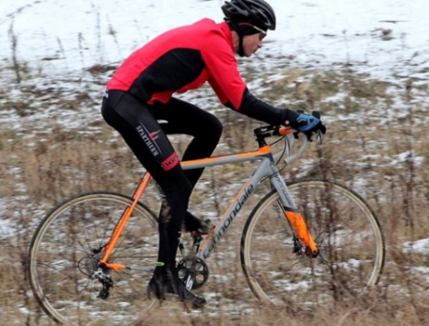 Robert Banach jako pierwszy przekroczył linię mety trzeciej edycji wyścigu Dre Rowery Cyclocross.