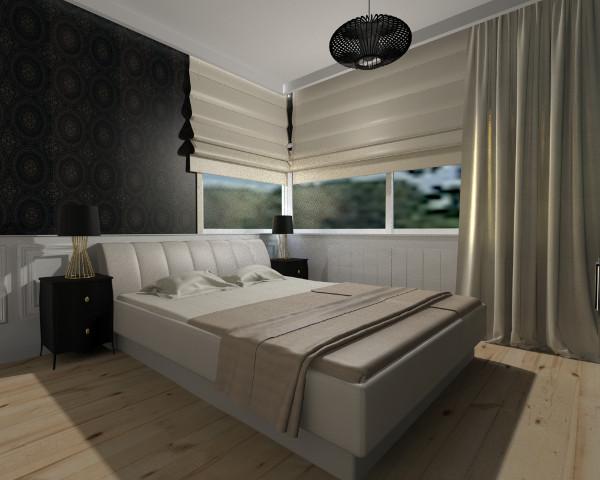 Do sypialni najczęściej wybierane są tkaniny, które nie przepuszczają światła. Zapewniają całkowitą prywatność użytkownikom.