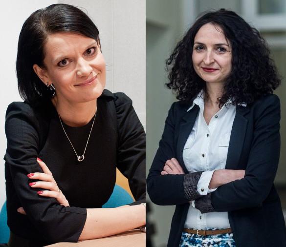Wiceprezydent Katarzyna Gruszecka-Spychała (po lewej) była przełożoną Katarzyny Gruszki w Agencji Rozwoju Gdyni, a teraz jest nią w gdyńskim magistracie.
