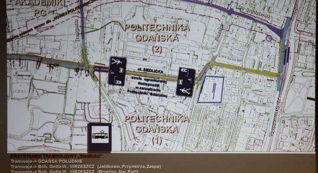 Lokalizacja przystanku w ul. Siedlickiej.