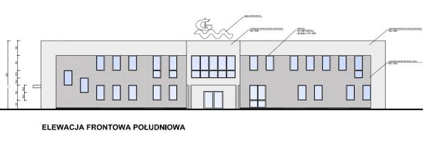 Elewacja planowanego budynku.