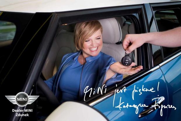Katarzyna Figura od roku jeździ samochodami Mini.