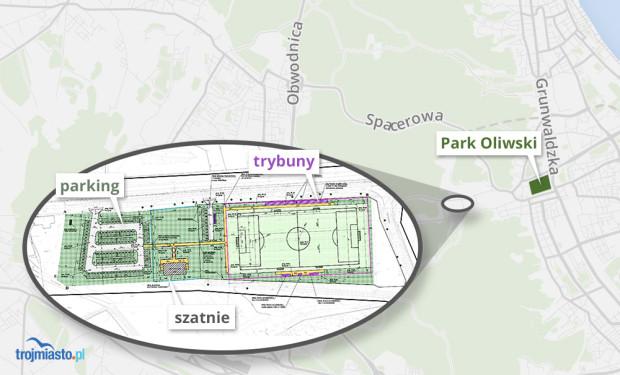 Projekt nowego obiektu w miejscu boiska wybudowanego przez niemiecką federację.