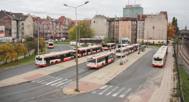 Tak wyglądała pętla autobusowa Jana z Kolna przed jej likwidacją.