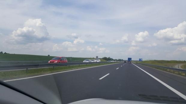 Korek na A1 w kierunku Łodzi ma 10 km.