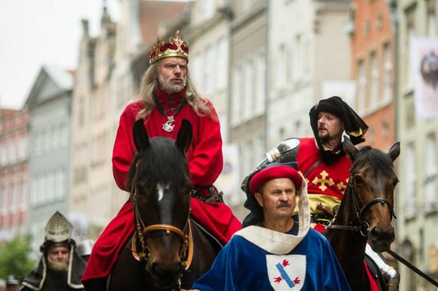 Kazimierz Jagiellończyk na historycznej paradzie z okazji Święta Gdańska.
