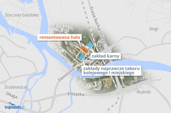 Lokalizacja remontowanej hali.