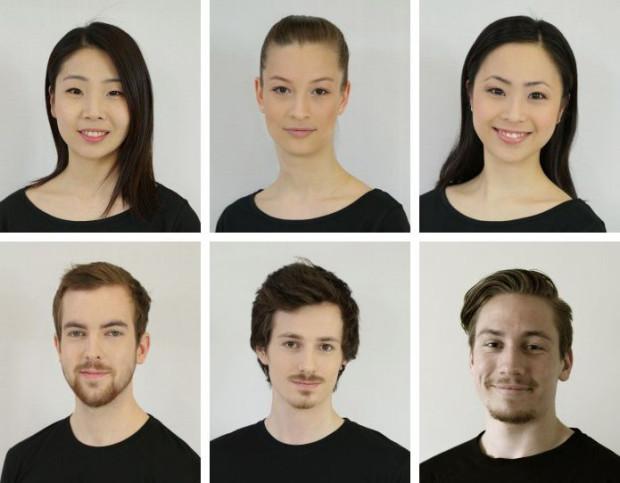 Nowe twarze w zespole BTT, od lewej w górnym rzędzie:  Min Kyung Lee, Magdalena Laudańska i Kanaho Isoya. W dolnym rzędzie od lewej: Sigurd Kirkerud Roness, Sune Leander Klausen oraz Magnus Alexander Haals.
