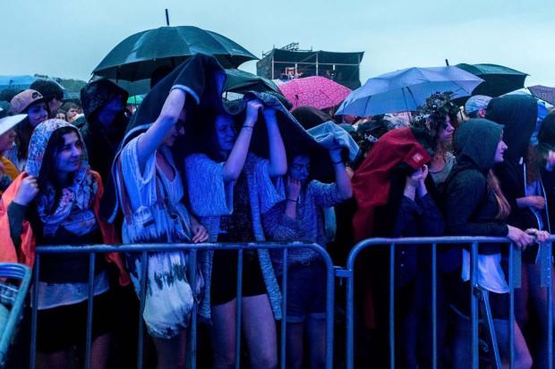 Deszcz padał od początku imprezy.