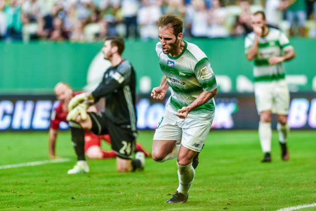 Marco Paixao ma w tym sezonie patent na krakowskie drużyny. Tak cieszył się po golu, którego strzelił Wiśle, a w 8. kolejce wpisał się na listę strzelców na stadionie Cracovii.