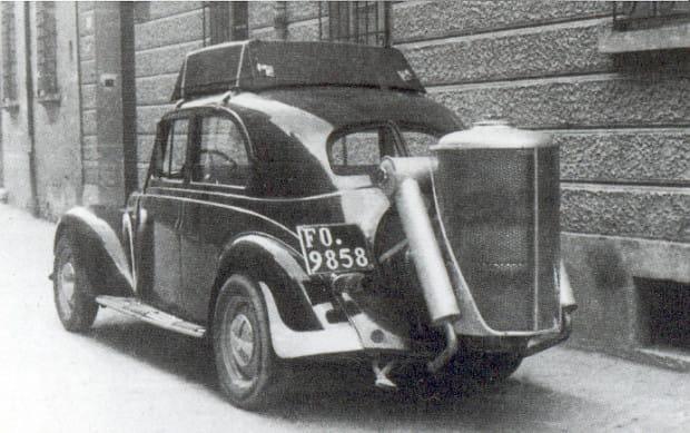 Samochody, a więc i taksówki, napędzane gazem drzewnym, pojawiły się na ulicach Gdańska w 1942 r.
