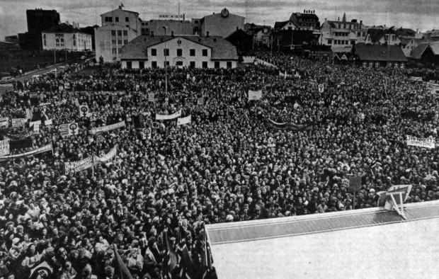 25 tysięcy Islandek protestowało 41 lat temu w Reykjaviku przeciwko niskim pensjom, dyskryminacji prawnej i lekceważeniu ich pracy przez mężczyzn. Ile Polek zdecyduje się na protest w najbliższy poniedziałek?