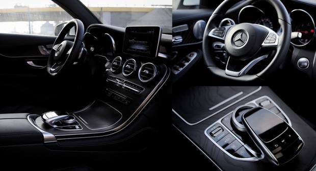 Elegancko skrojone wnętrze GLC Coupe.