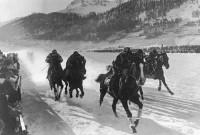 Wyścigi konne w St. Moritz podczas Olimpiady zimowej w 1928 r.
