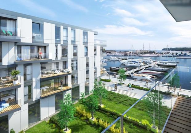 Równocześnie z budynkami powstanie niewielka marina jachtowa.