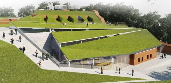 Propozycja przebudowy Redity Napoleońskiej przygotowana przez ArC2 Fabrykę Projektową z Wrocławia. Obecnie ta sama firma opracowuje projekt, ale już bez przeszklonej części widocznej na szczycie. Ma on być gotowy w połowie roku.