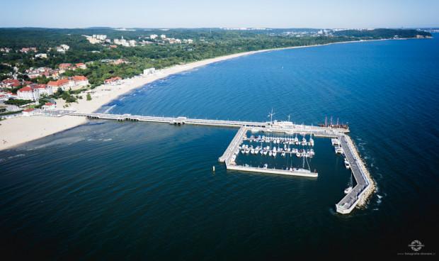 Marina na ponad 100 miejsc przy molo w Sopocie.