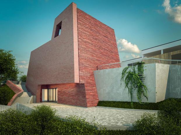 Projekt domu pogrzebowego na Cmentarzu Komunalnym w Sopocie powstał w pracowni architektonicznej RD Architekci.