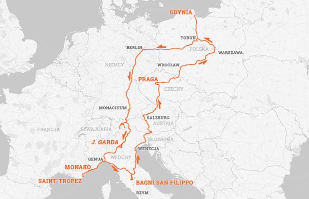 Tak wyglądała trasa ostatniej podróży.