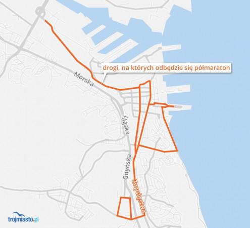 Zamknięte będą drogi praktycznie od granicy z Sopotem, do Estakady Kwiatkowskiego.