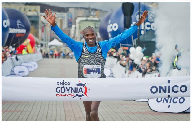 Zwycięzca gdyńskiego półmaratonu Hillary Kiptum Maiyo Kimaiyo z Kenii.