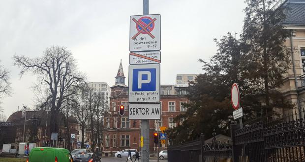 Oznakowanie wjazdu do Strefy Płatnego Parkowania.