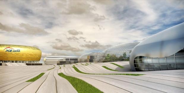 Wstępny projekt przygotowany kilka lat temu przez pracownię Rhode-Kellermann-Wawrowsky.