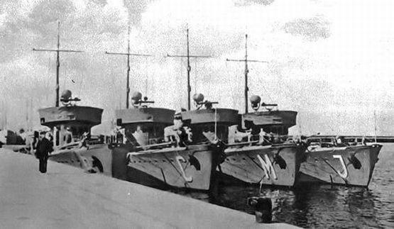 Wybudowane w latach 30. polskie trałowce projektu inż. Aleksandra Potyrały.