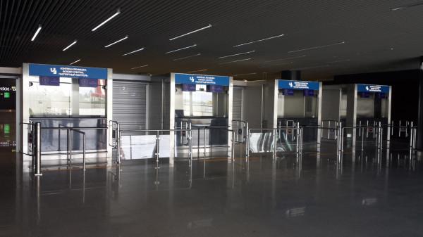 Miejsce kontroli pasażerów przylatujących spoza Unii Europejskiej.