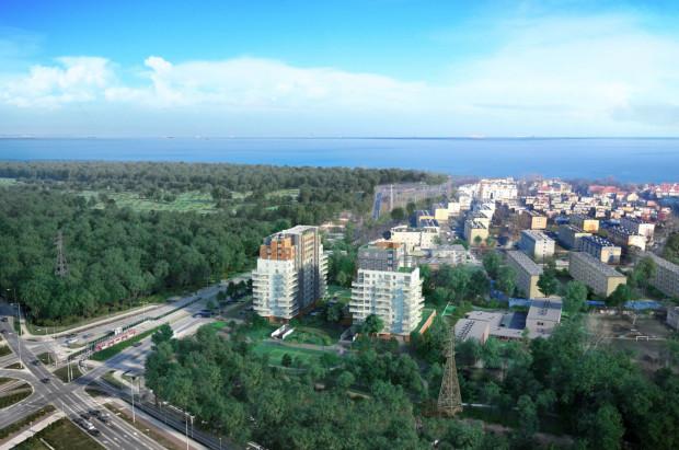 Dwie wieże Baltica Towers powstają w odległości 800 metrów od morza.