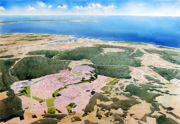 Model Gdyni Zachód po warsztatach urbanistycznych z 2012 roku. Wnioski z prac sprzed pięciu lat zostaną częściowo wprowadzone do planu miejscowego.
