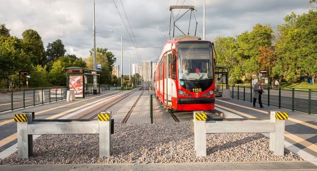Obecnie zakończenie trasy tramwajowej na ul. Bulońskiej.
