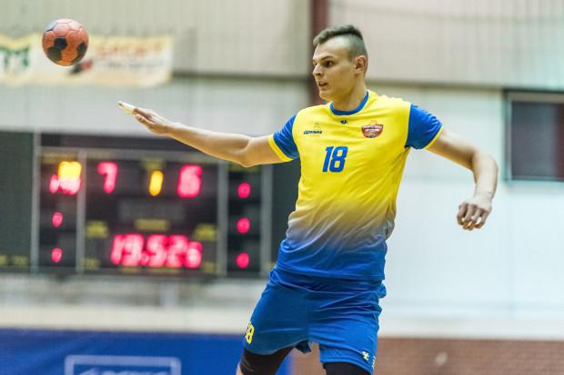 Karol Cichocki zdobył dla Spójni 6 bramek w meczu z Orlenem II Wisłą.