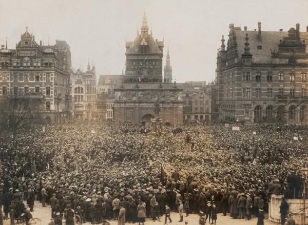 Wielki wiec mieszkańców przeciwko planom włączenia Gdańska do Polski, Targ Sienny, 23 marca 1919.