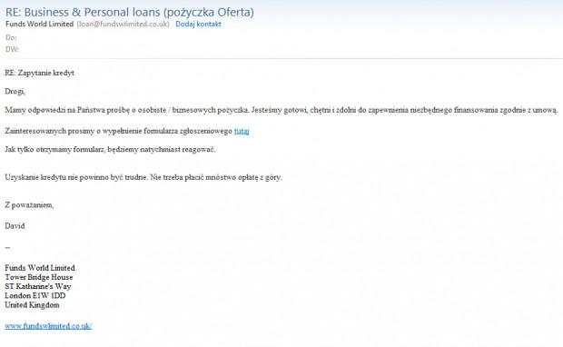 Taką wiadomość otrzymał pan Paweł. Ewidentnie widać, że do jej napisania użyto internetowego tłumacza.