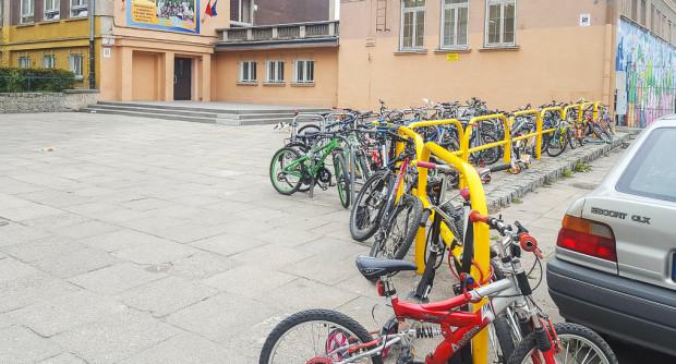 Akcja Rowerowy Maj co roku cieszy się dużą popularnością wśród uczniów. Nz. szkoła podstawowa nr 17 we Wrzeszczu.
