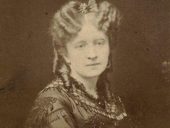 """Jadwiga Łuszczewska, autorka powieści """"Panienka z okienka""""."""
