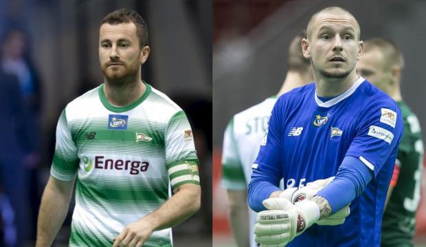 Piotr Wiśniewski (z lewej) i Mateusz Bąk (z prawej) po tym sezonie rozstaną się z Lechią. W niedzielę na Stadionie Energa Gdańsk obie ikony biało-zielonych pożegnają się z kibicami.