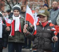 Na paradzie w Gdańsku tradycyjnie nie zabrakło najmłodszych.